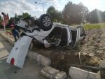 Kırşehir'de bir araç takla attı: 5 yaralı
