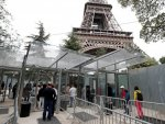 Eiffel Tower is surrounded with bullet-proof glass wall