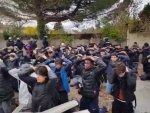 French high schools students arrested by armed police