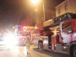 Kağıthane'de 5 katlı binada yangın çıktı