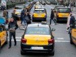 Barselona'da taksiciler grevde