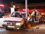14 yaşındaki çocuk sürdüğü araçla kaza yaptı: 2 yaralı