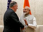 Pompeo meets with Indian PM Modi