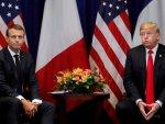 Trump ile Macron'un gergin buluşması