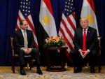 Sisi Donald trump karşısında el pençe divan