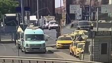 Zincirlikuyu'da 11 araç kazaya karıştı: O anlar kamerada