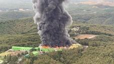 Şile'de fabrika deposunda yangın