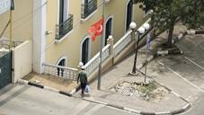 Luanda'da caddeler Türk bayraklarıyla donatıldı