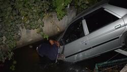 Malatya'da bir sürücü aracıyla kanala uçtu