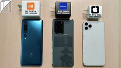 Xiaomi Mi 10 Ultra, Samsung Galaxy Note 20 Ultra ve iPhone 11 Pro Max için hızlı şarj testi
