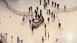 Mekke'de bir otomobil Harem-i Şerif'in avlusuna daldı