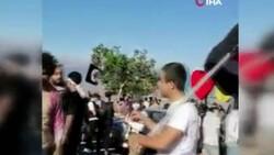 Lübnan-İsrail sınırında İsrail protestosu