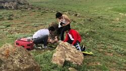 Van Erek Dağında yaralanan çocuk için ambulans helikopter devreye sokuldu