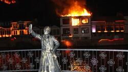 Amasya'da otel olarak kullanılan tarihi konakta yangın çıktı