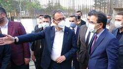 Mehmet Muharrem Kasapoğlu Çankırı'da yapımı süren havuz inşaatını inceledi