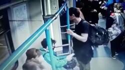 Rusya'da metroda yaşanan cep telefonu hırsızlığı kamerada