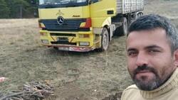 Denizli'de tomruk yüklü tırın devrilmesiyle şoför öldü