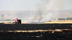 Diyarbakır'da havalimanı yakınında anız yangını