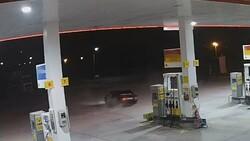 Afyonkarahisar'da benzinlikte drift atan maganda