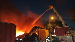Ankara'da atık dönüşüm tesisinde yangın