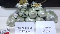 Kayseri'de kargo aracına uyuşturucu operasyonu
