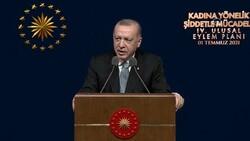 Cumhurbaşkanı Erdoğan, Kadına Yönelik Şiddetle Mücadele Toplantısı'na katıldı