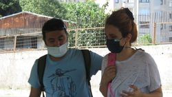 Kadıköy'de kaza yapan eşi için gözyaşı döktü