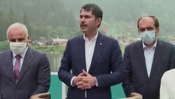 Murat Kurum: Uzungöl'den çarpık yapılar kaldırılarak aslına uygun hale getirilecek
