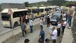 İstanbul'da minibüsçülerden 'kahyalık sistemine' karşı eylem