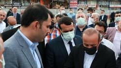Murat Kurum, Rize'de devam eden kentsel dönüşüm çalışmalarını değerlendirdi