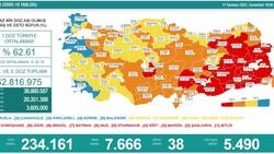 17 Temmuz Türkiye'de koronavirüs tablosu ve aşı haritası