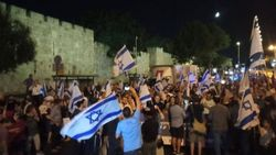 Doğu Kudüs'te fanatik Yahudiler yürüyüş düzenledi