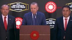 Cumhurbaşkanı Erdoğan, Lefkoşa'da toplu açılış ve temel atma törenine katıldı