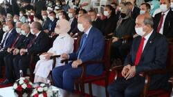 Cumhurbaşkanı Erdoğan, Kıbrıs'ta düzenlenen törene katıldı