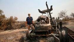 Manavgat'ta traktörü yanan çiftçiye devlet desteği