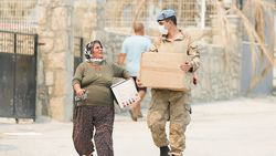 Yangın bölgelerine 72,5 milyon lira nakdi yardım gönderildi