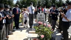 Şehit Pilot Yüzbaşı Cengiz Topel mezarı başında anıldı
