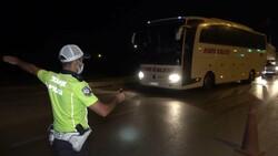Kırıkkale'de otobüs denetimleri sıklaştırıldı