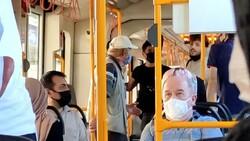 Bursa metrosunda gergin anlar: Sokak müzisyenleri yolcuları isyan ettirdi
