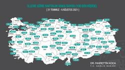 4 il daha aşı haritasında mavi kategoriye geçti
