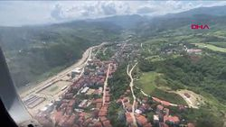 Sinop'ta, sel bölgesi havadan görüntülendi