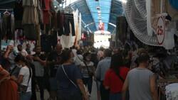 Edirne'de Bulgar turistler Ulus Pazarı'na akın etti
