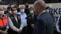Cumhurbaşkanı Erdoğan, Kastamonu'daki cenaze törenine katıldı
