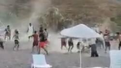 Antalya Kumluca sahilinde kavga