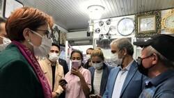 Meral Akşener'in Bayburt ziyaretinde vatandaşlarla partililer arasında arbede
