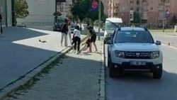 Niğde'de genç kızların sokak kavgası