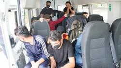 Sultangazi'de Suriye uyruklu 20 kaçak göçmen yakalandı