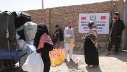 İHH, Afganistan'ın başkenti Kabil'de 50 aileye kumanya dağıttı