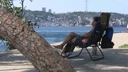 İstanbul'da nem bunalttı, sahile akın ettiler