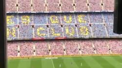Barcelona taraftarı tribünden PSG'ye küfür etti